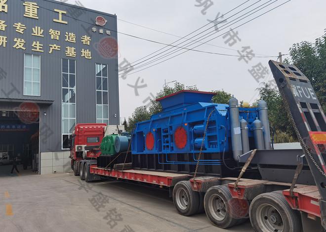2PGY1212液压对辊制砂机发往湖南醴陵